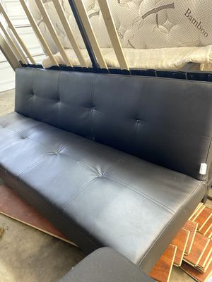 Leather futon for Sale in Santa Ana, CA
