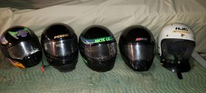 (5) Snowmobile helmets - sold as a group ONLY for Sale in Crest Hill, IL