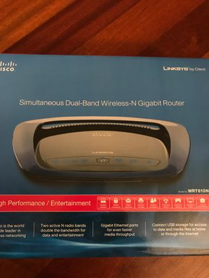 Cisco-Linksys WRT610N Simultaneous Dual-N Band Wireless Router for Sale in Portland, OR