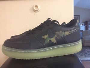 Bape STA's size 9.5 Camo Glow-n-the-Dark for Sale in Burtonsville, MD
