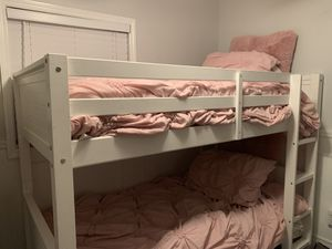 Bunk bed, mattresses, comforters and sheets for Sale in Largo, FL