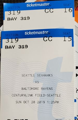 Seahawks Vs Ravens for Sale in Puyallup, WA