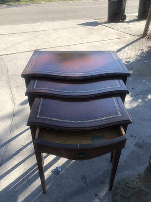 Genuine mahogany end tables for Sale in Fort Lauderdale, FL