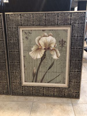 Pair of Floral Canvas Prints for Sale in Lansdowne, VA