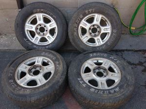 6 on 135mm 17 inch alloy rims and tires Ford f150 navigator Expedition for Sale in Montebello, CA