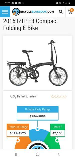 Used izip e3 compact folding bike for Sale in Gloucester, MA