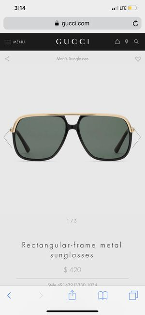 AUTHENTIC Gucci Sunglasses for Sale in Eastpointe, MI
