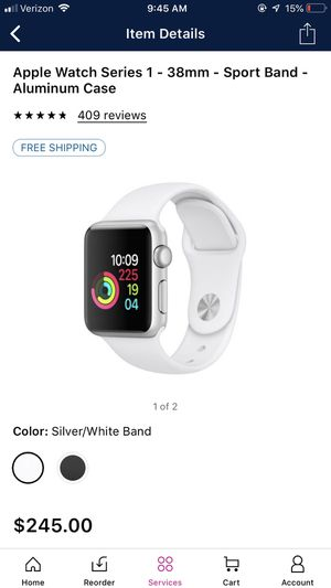 Apple Watch series 1, 38mm, sport band for Sale in Farmville, VA