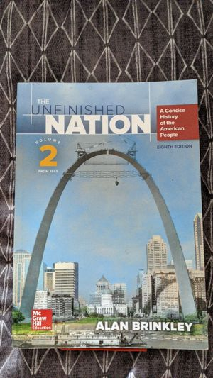 The Unfinished Nation, Volume 2, Eighth Edition for Sale in Watsonville, CA