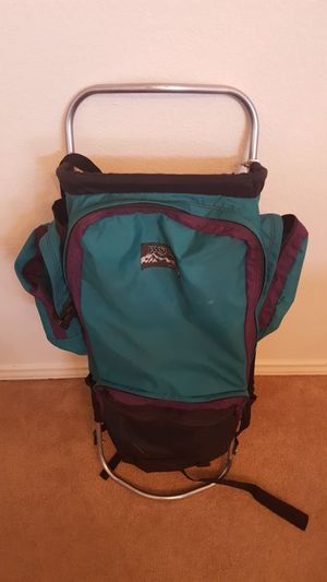 Jansport Backpack External adjustable Aluminum Frame Jan sport Hiking for Sale in Allen, TX