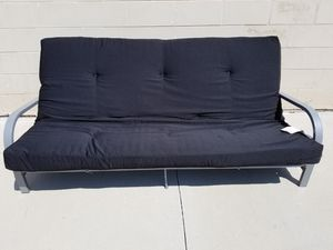 Full/Double Metal Frame Futon w/Mattress for Sale in Tampa, FL