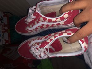 Checkered red vans for Sale in Elkhart, IN