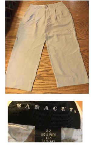 Baracuda brand 100% silk khaki slacks size 32 for Sale in Portland, OR