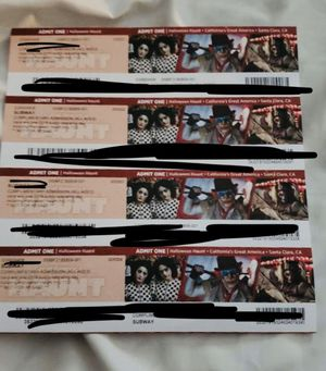 3 tickets for great Halloween haunt for Sale in San Jose, CA