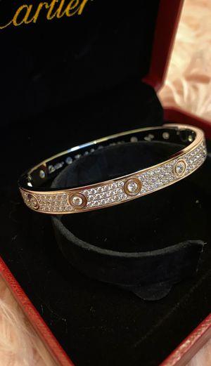 """Silver Zircon Bracelet size17"""" for Sale in Garrison, MD"""