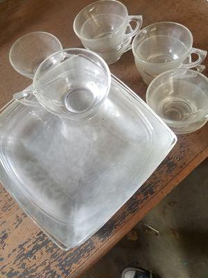 Vintage glass plate teacup combo for Sale in Glendora, CA