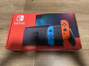 Nintendo Switch V2 Neon Red/Blue - Brand New with Receipt for Sale in West Covina, CA