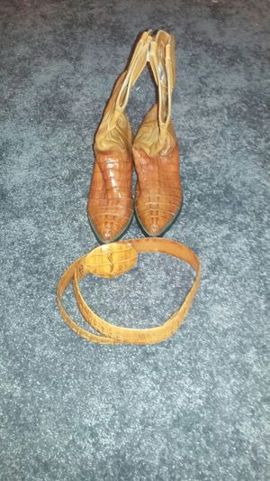 leather boots size 8 1/2 for Sale in Santa Ana, CA