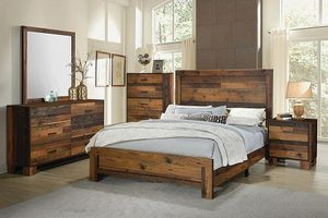 New 5pc queen size bedroom set tax included free delivery for Sale in Hayward, CA