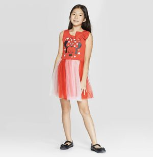NWT Disney Minnie Mouse Girls Red Bow Tulle Skirt Dress Size large (10/12) for Sale in La Habra Heights, CA
