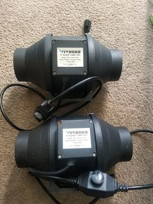 VIVOSUN 4 Inch 190 CFM Inline Duct Ventilation Fan with Variable Speed Controller for Grow Tent for Sale in San Diego, CA