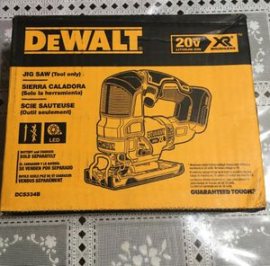 DEWALT 20-Volt MAX XR Lithium-Ion Cordless Brushless Jigsaw (Tool-Only) no battery no charger brand new for Sale in Los Angeles, CA