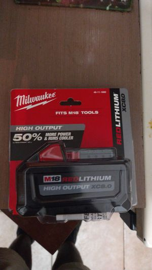 Milwaukee m18 red lithium battery 8.0 for Sale in Fort Lauderdale, FL