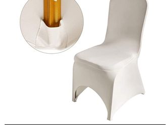 100 Pack of Ivory color Chair Covers for Sale in Whittier,  CA