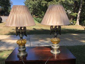 Set of rare vintage antique eagle lamps for Sale in Alexandria, VA