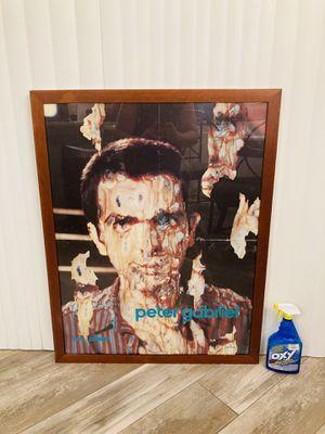 "Rare Vintage Professionally Framed Peter Gabriel ""Melt"" 1980 Mercury Records Original Music Poster Wall Art Decor for Sale in Spring Hill, FL"