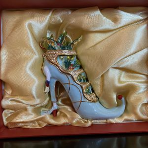 Dept 56 Krinkles Blue Shoe Jeweled Box for Sale in Alexandria, VA