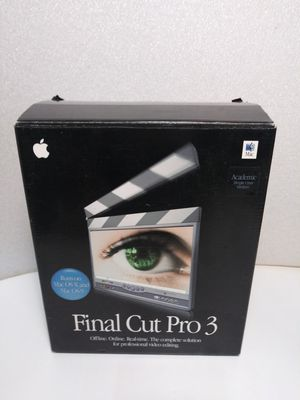 Apple Final Cut 3 for OS x or 9 complete with serial numbers for Sale in Union City, CA
