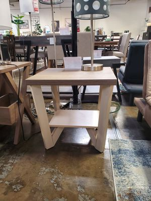 Grace End Table, Ivory & Dark Taupe for Sale in Norwalk, CA