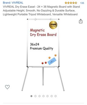 Dry erase board with built in stand for Sale in Ontario, CA