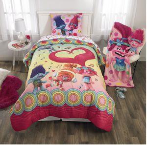 Trolls kids bedding Twin/Full 2-Piece Comforter & Sham Set for Sale in Monroe, NC