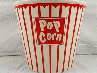 Vintage Looking Porcelain Pop Corn Bowl, MSRF, Design Studio, Ceramic Movie Theater Bowl for Sale in New Haven,  CT