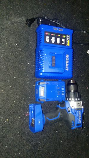 Kobalt 24 volt Max Kobalt brushless drill hammer drill with two speeds one battery it's a 24 volt Max 2.0 ah with the charger for Sale in Sebring, FL