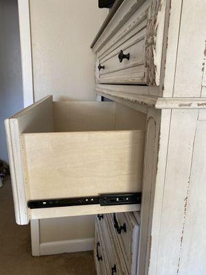 Queen size bed frame with large dresser for Sale in Ogden, KS