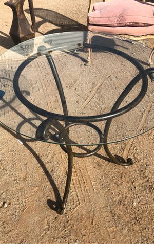 Metal table with glass top for Sale in Youngtown, AZ