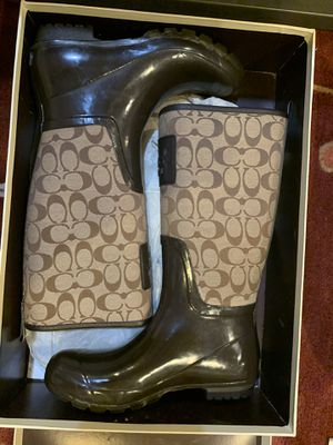 Womans Coach Rain Boot Size 9 for Sale in Rockville, MD