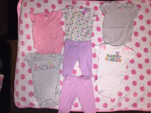 7 pc. 0-3 baby girl clothes asking $5 for Sale in New Salisbury, IN