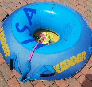 To boating inner tubes with tube covers and a rope. All of it for $40 firm first come first serve for Sale in Morton Grove, IL