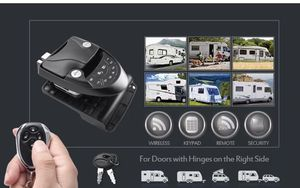 MICTUNING RV Keyless Entry Door Lock Handle Latch, 20Meter Wireless Remote Control for Trailer Caravan Camper Lock with Keypad & Fob for Sale in Athens, AL