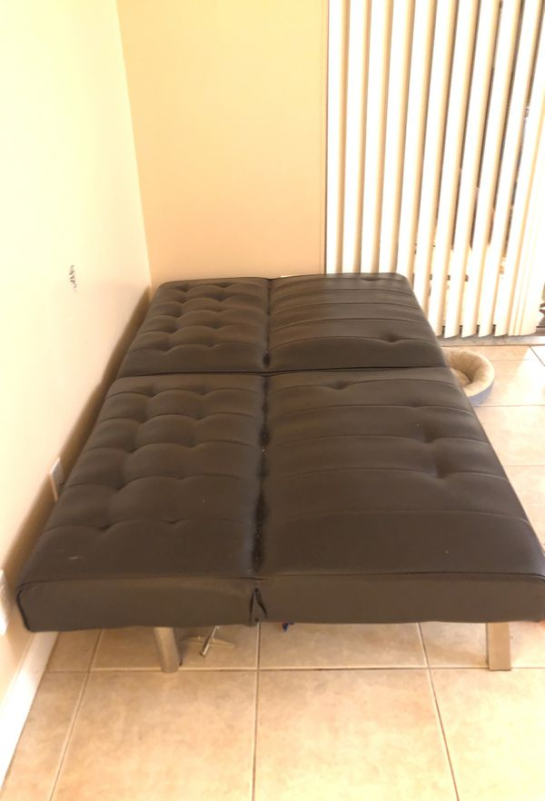 Expressing color faux leather futon
