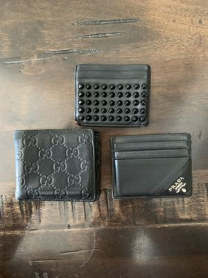 Ballin on a budget. 3 authentic leather Wallets for Sale in Houston, TX
