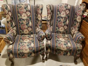 Wingback chairs and sofa for Sale in Robbinsville Township, NJ
