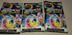 New illooms unicorn head light up balloons 3 total for Sale in Lemon Grove, CA