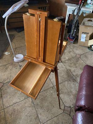 French Artist easel - varnished wood for Sale in Kingsburg, CA