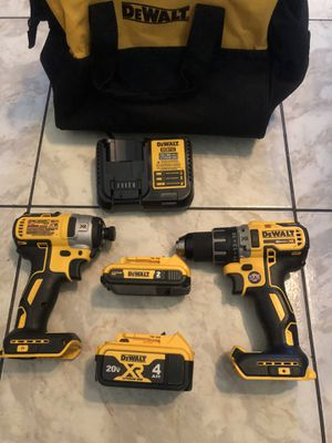 New DEWALT 20-Volt MAX XR Cordless Brushless Hammer Drill/Impact Combo Kit (2-Tool) with (1) Battery 2Ah and (1) Battery 4Ah$270 for Sale in Lauderhill, FL