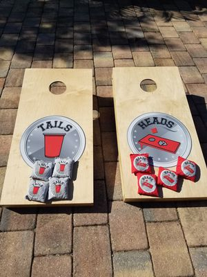 Cornhole lawn game corn hole set for Sale in Davie, FL